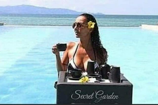 Bar flottant Secret paradise Garden